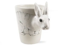 Picture of Rabbit Handmade 8oz Coffee Mug White