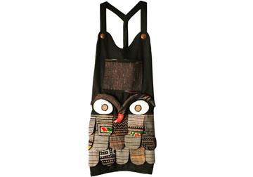 Picture of Ragworks Adult Black Ash Big Chef Owl Apron