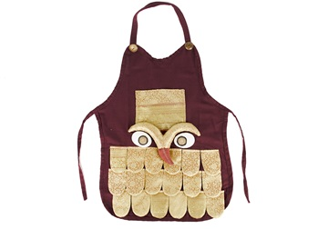 Picture of Ragworks Sari Big Chef Owl Adult Apron Gold