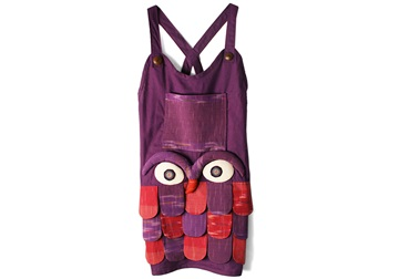 Picture of Ragworks Big Chef Owl Adult Apron Sweet Violet