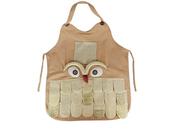 Picture of Ragworks Sari Big Chef Owl Adult Apron White Gold