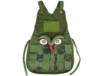 Picture of Ragworks Little Chef Owl Junior Apron Olive
