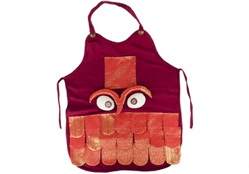 Picture of Ragworks Sari Little Chef Owl Junior Apron Ruby