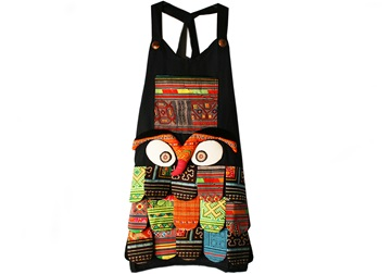 Picture of Ragworks Handmade Vintage Little Chef Apron Rustic Rainbow Owl