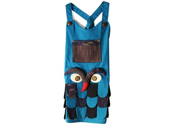 Picture of Ragworks Handmade Vintage Little Chef Apron Sky Blue Owl