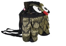 Picture of Ragworks Sari Owl Adventure Medium Backpack Black Gold