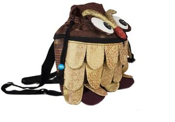 Picture of Ragworks Sari Owl Adventure Medium Backpack Gold