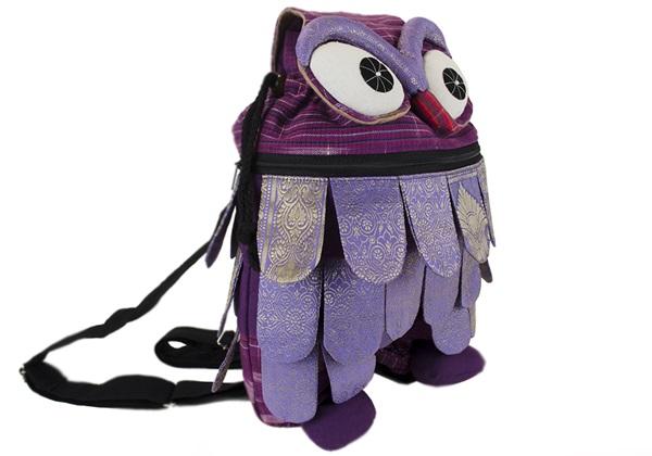 Picture of Ragworks Sari Owl Adventure Medium Backpack Lilac