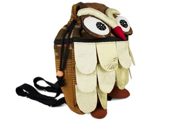 Picture of Ragworks Sari Owl Adventure Medium Backpack White Gold
