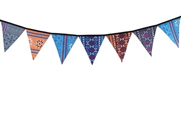 Picture of Ragworks Handmade Antique Cotton One size Bunting Rainbow