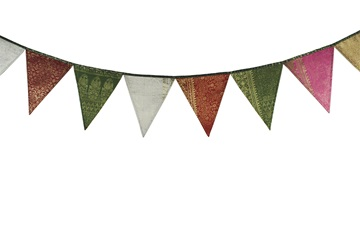 Picture of Ragworks Handmade Sari Silk One size Bunting Rainbow