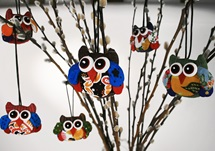 Picture of Ragworks Cotton Owl Adventure Petite Ornament Rainbow