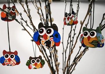 Picture of Ragworks Cotton Owl Adventure Petite Ornament Rainbow Owl