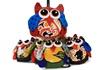 Picture of Ragworks Cotton Owl Adventure Petite Ornament Rainbow