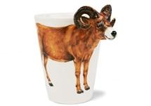 Picture of Ram Handmade 8oz Coffee Mug Brown