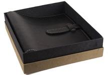 Picture of Rama Handmade Leather Bound Large Post Bound Photo Album Black