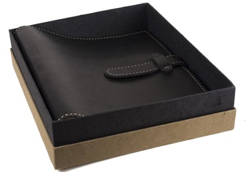 Picture of Rama Handmade Leather Bound Large Post Bound Photo Album Black