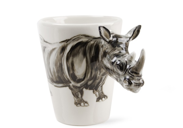 Picture of Rhino Handmade 8oz Coffee Mug Grey