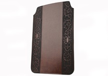 Picture of Romano Handmade Recycled Leather Mini ipad Case Chestnut Classico