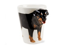 Picture of Rottweiler Handmade 8oz Coffee Mug Black