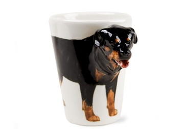 Picture of Rottweiler Handmade 8oz Coffee Mug Black