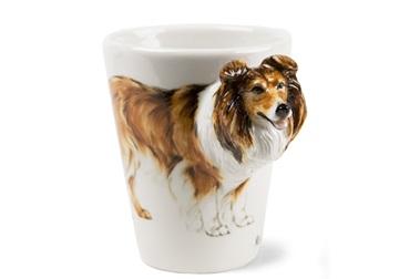Picture of Rough Collie Handmade 8oz Coffee Mug Tricolor