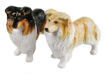 Picture of Rough Collie Handmade Mini Cruet Set Tri Color