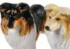 Picture of Rough Collie Handmade Mini Cruet Set Tri Color