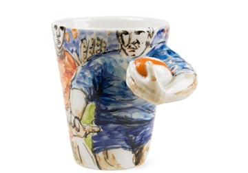Picture of Rugby Handmade 8oz Coffee Mug Blue