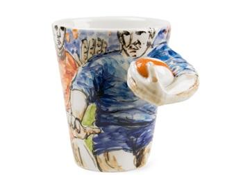Picture of Rugby Handmade 8oz Coffee Mug Blue