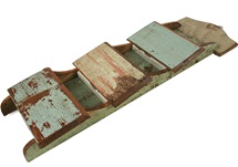 Picture of Rustic Beach Handmade Wall Mounted 3 Tray Letter Rack Antique Pastel