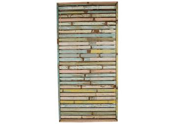 Picture of Rustic Beach Handmade Reclaimed Extra Large Wall Art Panel Antique Pastel