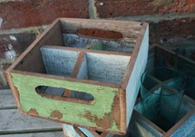 Picture of Rustic Beach Handmade Reclaimed Four Compartments Crates Antique Patel