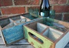 Picture of Rustic Beach Handmade Reclaimed Four Compartments Crates Antique Pastel