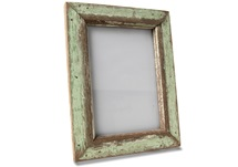 Picture of Rustic Beach Handmade Reclaimed Large Photo Frame Antique Green