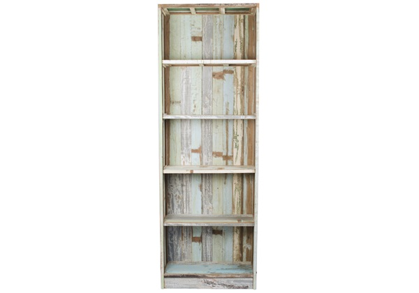 Picture of Rustic Beach Handmade Reclaimed Large Book Shelf Antique Pastel
