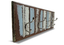 Picture of Rustic Beach Handmade Reclaimed Large Wall Hook Antique Pastel
