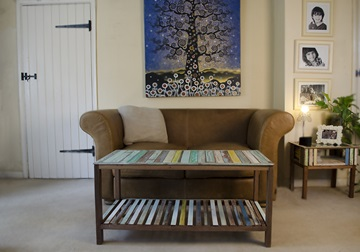 Picture of Rustic Beach Handmade Reclaimed Large Coffee Table Antique Pastel