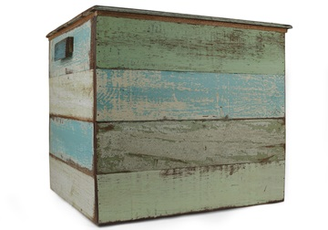 Picture of Rustic Beach Handmade Reclaimed Large Storage Box Antique Pastel