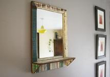 Picture of Rustic Beach Handmade Reclaimed Medium Mirror Antique Pastel