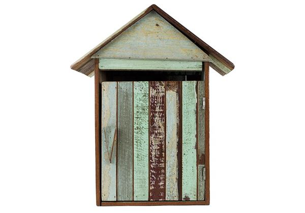 Picture of Rustic Beach Medium Antique Pastel Wall Mounted Post Box