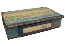 Picture of Rustic Beach Handmade Reclaimed Cameo Small Storage Box Antique Pastel
