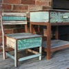 Picture of Rustic Beach Handmade Reclaimed Small Kids Chest Chair Antique Pastel