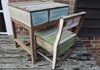 Picture of Rustic Beach Handmade Reclaimed Small Kids Desk Antique Pastel