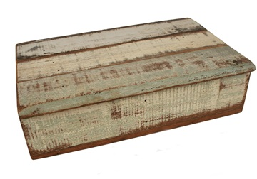 Picture of Rustic Beach Handmade Reclaimed Small Storage Box Antique Pastel