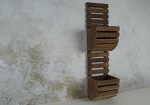 Picture of Rustic Beach Handmade Reclaimed Two Shelf Planter Antique Pastel