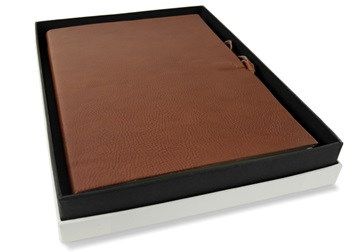 Picture of Rustico Handmade Leather Bound A4 Journal Saddle Brown Plain