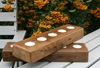 Picture of Rustic Beach Handmade Reclaimed Wood Chunky Tea Light Holder Antique Pastel