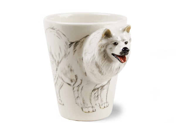 Picture of Samoyed Handmade 8oz Coffee Mug White
