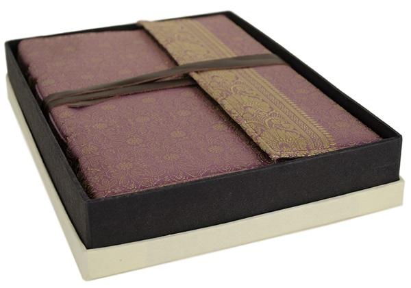 Picture of Sari Handmade Handbound A4 Journal Lilac Plain